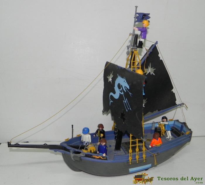 Juguetes antiguos figuras de accion for Barco pirata playmobil
