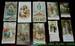ESTAMPAS BORDADAS Y CALADAS RELIGIOSAS - HOLY CARD LACE - S. XIX